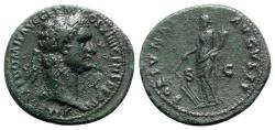 Ancient Coins - Domitian (81-96). Æ As - Rome - R/ Fortuna