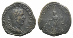 Ancient Coins - Philip I (244-249). Æ Sestertius. Rome, 244.  R/ LAETITIA