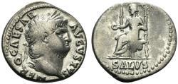 Ancient Coins - Nero (54-68). AR Denarius.  Rome, c. 65-6. R/ SALUS