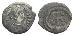 Ancient Coins - Justinian I. 527-565. AR Quarter Siliqua. Carthage mint. Struck 533/4-537 EXTREMELY RARE
