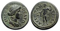 Ancient Coins - Lydia, Tripolis. Pseudo-autonomous issue, c. 2nd-3rd century AD. Æ - Roma / Dionysos