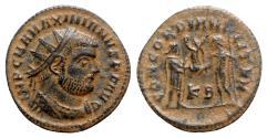 Ancient Coins - Maximianus (286-305). Æ Radiate - Cyzicus