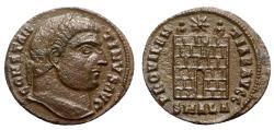Ancient Coins - Constantine I (307/310-337). Æ Follis - Alexandria - R/ Camp gate