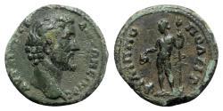 Ancient Coins - Antoninus Pius (138-161). Thrace, Philippopolis. Æ - R/ Dionysus