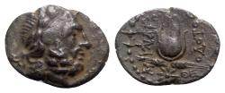 Ancient Coins - Caria, Myndos, 2nd-1st century BC. AR Drachm - Theodotos, magistrate