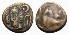 Ancient Coins - Kings of Elymais, Orodes II (c. AD 100-150). Æ Drachm. Facing bust wearing tiara