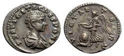 Ancient Coins - Geta (Caesar, 197-209 ). AR Denarius - Laodicea - R/ Victory