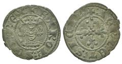 World Coins - Italy, Napoli. Carlo II d'Angiò (1285-1309). BI Denaro Regale. Crowned bust facing