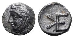 Ancient Coins - Troas, Kebren, c. 4th century BC. Æ - Satrap head / Monogram