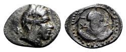 Ancient Coins - Bithynia, Kios, c. 350-300 BC. Æ - Mithras / Grape