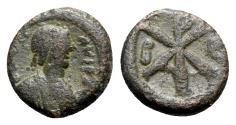 Ancient Coins - Justin I (518-527). Æ 5 Nummi - Constantinople