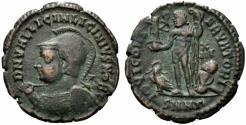 Ancient Coins - Licinius II (Caesar, 317-324). Æ Follis. Nicomedia, 321-4.  R/ Jupiter