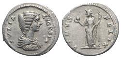 Ancient Coins - Julia Domna (Augusta, 193-217). AR Denarius. Laodicea, c. 198-202. R/ Venus