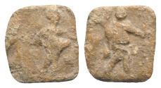 Ancient Coins - Roman Square PB Tessera, c. 1st century BC - 1st century AD