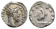 Ancient Coins - Divus Marcus Aurelius (Died AD 180). AR Denarius - Rome - R/ Eagle