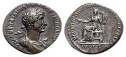 Ancient Coins - Hadrian (117-138). AR Denarius - Rome - R/ Justitia