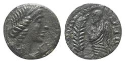 Ancient Coins - Celtic. Gaul, Southern. Volcae-Arecomici, c. 77-44 BC. Æ 13mm NICE !!