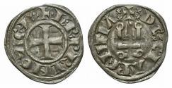 Ancient Coins - CRUSADERS, Principality of Achaea. Charles II de Anjou. 1285-1289. BI Denier