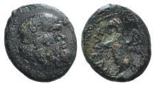 Ancient Coins - ITALY, UMBRIA, Tuder. Circa 280-240 BC. Æ Hemiobol  RARE Ex Thomas Virzi collection