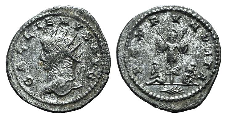 Ancient Coins - Gallienus. AD 253-268. AR Antoninianus. Antioch. R/ TROPHY