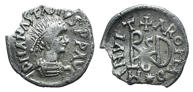 World Coins - Gepids, Uncertain king, c. 454-552. AR Quarter Siliqua. Sirmium RARE