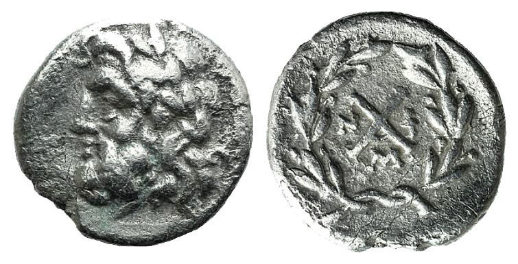 Ancient Coins - Achaian League, Messene, c. 175-168 BC. AR Hemidrachm