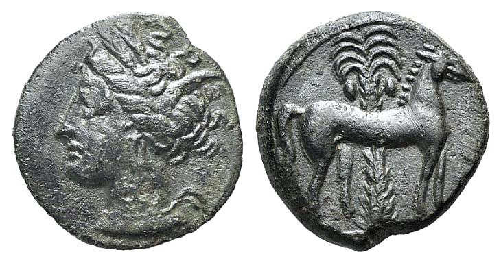 Ancient Coins - Carthage, c. 400-350 BC. Æ 15mm