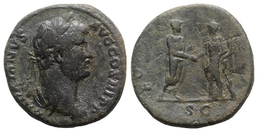 Ancient Coins - Hadrian (117-138). Æ Sestertius - Rome