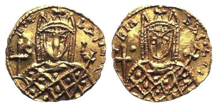 Ancient Coins - Irene, Sole Reign, AV Solidus. Syracuse, circa AD 797-802.  VERY RARE