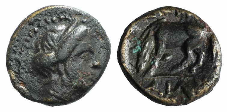 Ancient Coins - Thessaly, Larissa, late 4th-3rd century BC. Æ Chalkous