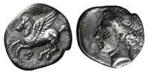 Corinth, c. 350-300 BC. AR Drachm