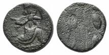 Ancient Coins - Achaemenid Empire, temp. Artaxerxes III to Darios III, c. 350-333 BC. Æ 14mm. Uncertain mint in western Asia Minor (Ionia or Sardes?).