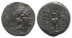 Ancient Coins - Seleukid Kings, Antiochos VI (145-142 BC). Æ - Apamea - R/ Amphora