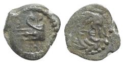 Ancient Coins - Judaea, Herod II (4 BCE-6 CE). Æ Half Prutah