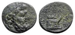 Ancient Coins - Macedon, Amphipolis(?), c. 187-168/7 BC. Æ - Zeus / Prow