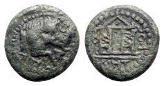 Ancient Coins - Pisidia, Tityassus. Pseudo-autonomous issue, c. 2nd century AD. Æ - Boar / Temple