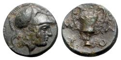 Ancient Coins - Lesbos, Methymna, c. 350-240 BC. Æ, Kanthers.