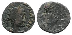 Ancient Coins - Barbarous Radiate, imitating Tetricus I 11mm.  R/ Female figure (Pax?)