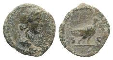 Ancient Coins - Anonymous, temp. Hadrian–Antoninus Pius, 117-161. Æ Quadrans. Rome. R/ DOVE