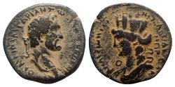 Ancient Coins - Antoninus Pius (138-161). Seleucis and Pieria, Laodicea ad Mare. Æ 26mm. R/ Turreted and draped bust of Tyche