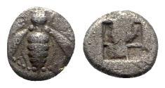 Ancient Coins - Ionia, Ephesos, c. 500-420 BC. AR Diobol, Bee.