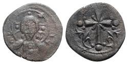 Ancient Coins - Anonymous, time of Nicephorus III (1078-1081). Æ 40 Nummi (23mm, 3.42g, 6h). Constantinople. Bust of Christ Pantokrator facing, raising hand in benediction and holding Gospel book.