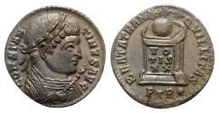 Ancient Coins - Constantine I (307-337). Æ Follis - Treveri - R/ Globe on altar