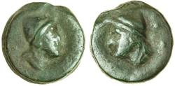 Ancient Coins - Roman Republic (c.270 BC), AE Cast Sextans. Head of Dioscurus / Head of Dioscurus