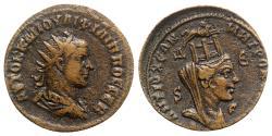 Ancient Coins - Philip I (244-249). Seleucis and Pieria, Antioch. Æ 8 Assaria - R/ Tyche