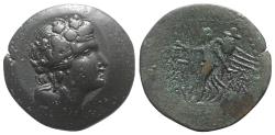 Ancient Coins - Islands of Caria, Rhodos. Rhodes, early-mid 1st century AD. Æ Drachm (37mm). Antipatros, treasurer. Head of Dionysus  R/ Nike