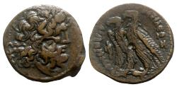 Ancient Coins - Ptolemaic Kings of Egypt. Ptolemy VI and Ptolemy VIII (Coregency, 170-163 BC). Æ Diobol.