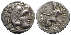 Ancient Coins - Kings of Thrace, Lysimachos (305-281 BC). AR Drachm. In the name and types of Alexander III of Macedon. Kolophon, c. 301-299 BC.