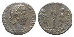 Ancient Coins - Constantius II (Caesar, 324-337). Æ 13.5mm. Treveri, AD 340.