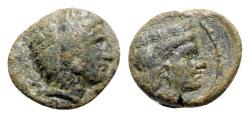 Ancient Coins - Sicily, Himera as Thermai Himerensis, late 4th - early 3rd century BC. Æ